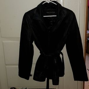 Leather coat large